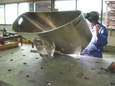 Aluminium bak lassen
